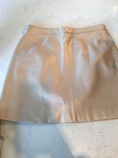 Gold leather skirt- Factorie