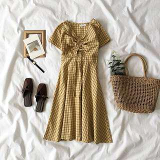 🚚 BN Yellow Midi Dress
