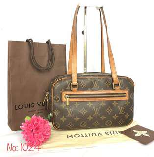 AUTHENTIC LOUIS VUITTON MONOGRAM CITE MM 2 WAY BAG