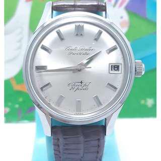 日本原裝CITINEN星辰.軌道式機芯,日期顯示,不繡鋼自動上鍊男錶