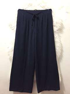 Celana kulot serat kulit jeruk Dr_Hijabku navy