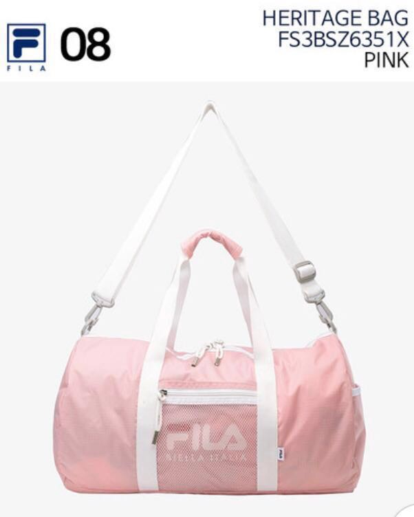100% AUTHENTIC FILA HERITAGE DUFFLE BAG - PINK fc2b4cb6acdc4