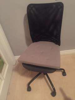 Simple computer chair with cushion