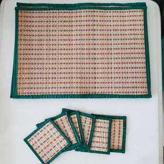 Handwoven placemats and coaster