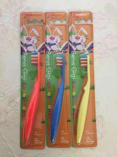 Brand new 3pcs kids toothbrush