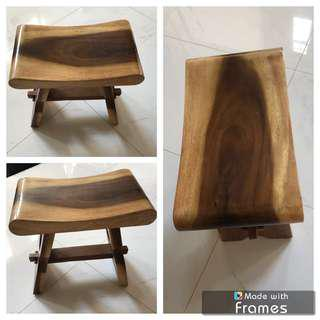🔥Moving Out Sale🔥Solid & Stable Suar Wood Stool