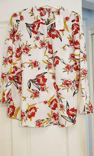 BNWT White floral blouse