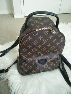 SOLD Louis Vuitton Palm Springs mini backpack leather replica