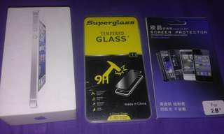 Take all box iphone 5 & tempered glss