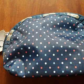 LE SPORTSAC COSMETIC CLUTCH/TRAVEL BAG, NAVY