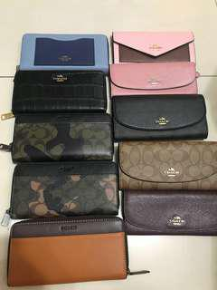 Premium grade ready Stock women wallet coach men purse wallet