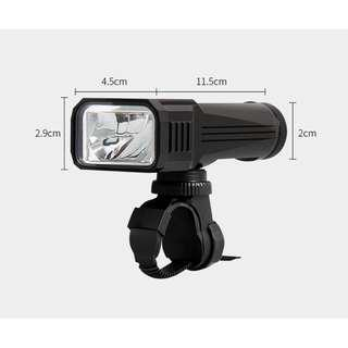 2018 New German Technology 800 lumens 2000mAH LED Bicycle Light