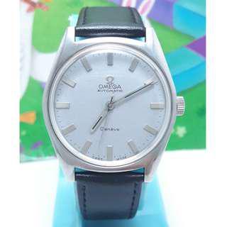 師大古董鐘錶---瑞士原裝亞米茄(OMEGA)原裝龍頭,不鏽鋼自動上鍊男錶