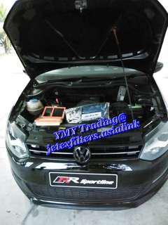 #jetexfilters_vw. #jetexfiltersasialink. VW Polo 1.4 replaced Jetex high flow performance drop in air filter with 1.14 KPA flow rate washable & reusable ..
