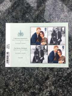 哈里大婚郵票(包郵寄費)