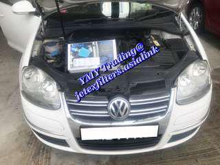 #jetexfilters_vw. #jetexfiltersasialink. VW Jetta MK5 Single turbo model upgraded Jetex high flow performance drop in air filter with 1.14 kpa flow rate washable & reusable filter.