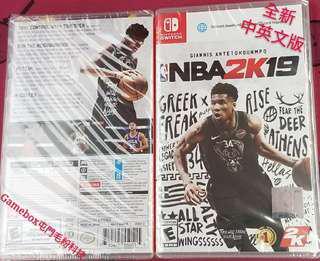 全新Switch NBA2K19 中英文版 現貨發售