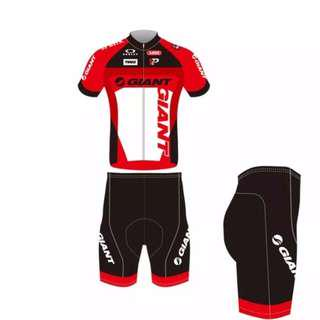 Giant Clothing Set Short Sleeve Jersey Sportswear Bike Cycling Short Pants