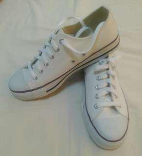 🚚 Arriba基本款白色滾紅邊帆布鞋