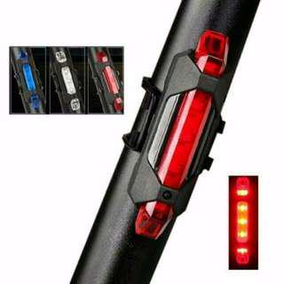 Bright LED Tail Light Rechargable Waterproof Red/White/Blue