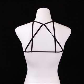 Minimalist Cross Strapped Cage Bra