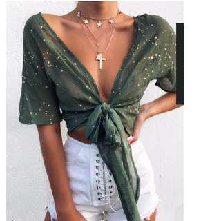 Outcast clothing Hadid top in mint