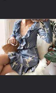 BNWT Wrap mini dress