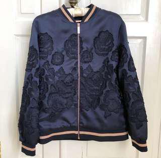 Preloved worn once Ted Baker Floral jacquard bomber jacket
