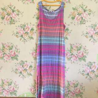 New Look Stripe Long Dress
