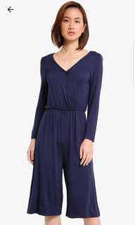 Oxford blue wrap jumpsuit