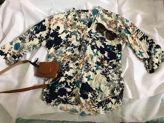 Floral Cotton Blouse Top