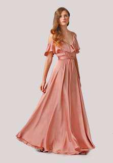 Karimadon gown for rent meduim nude pink