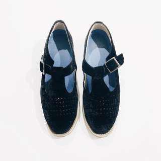 黑天鵝絨毛 波昂包鞋