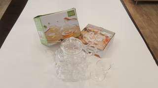 Flower tea glass pot