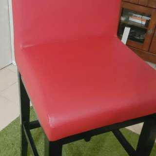 Meja makan set ber merah