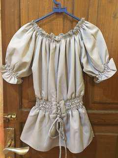 Grey blouse import bangkok