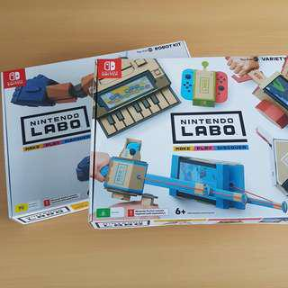 Nintendo Labo Toy Con 01 & 02 Variety and Robot kits