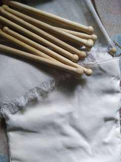 Wooden Rod + Canvas Fabric