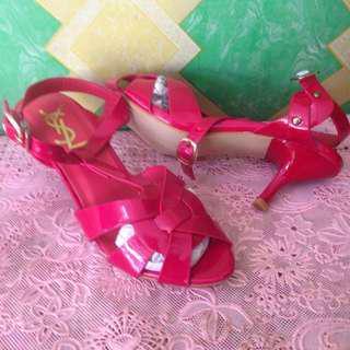 Sendal Sepatu Heels Ysl