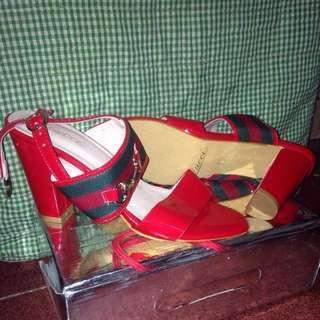 Sepatu Sendal Gucci Heels