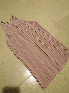[NEW] Pink Halter Neck Pleated Top