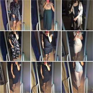 Dresses, Tops, Trousers and Coats