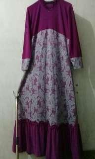#MASIH_READY Gamis ungu preloved murah