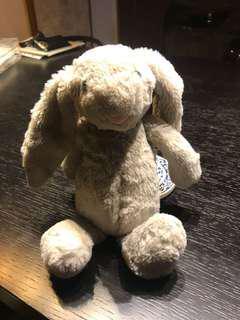 Jellycat grey rabbit iPhone 7 furry Case holder