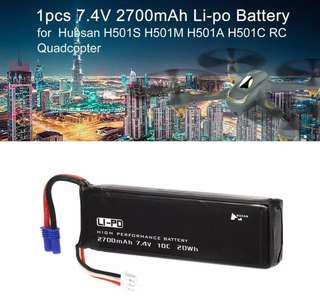 4🔥Morpilot For Hubsan x4 Pro HBNH501S Pro 2S 2700mAh 7.4V 10C 20Wh RC Drone LiPo Battery High Performance with Charging Protection Genuine Parts Guarrantee Extra Flight Time