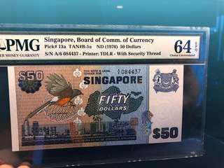 $50 Bird Series PMG 64EPQ