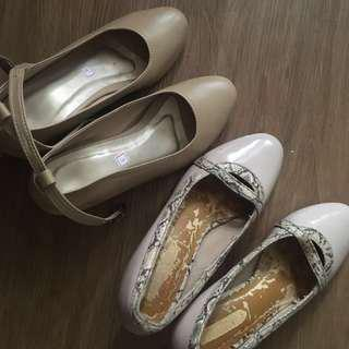 Repriced!! Nude colored shoes