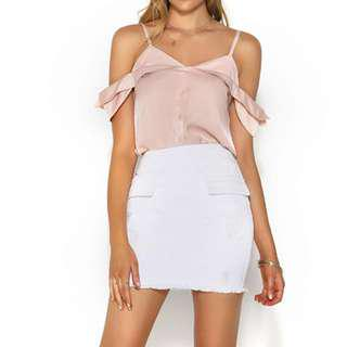 Runaway the label nude pink top size 8
