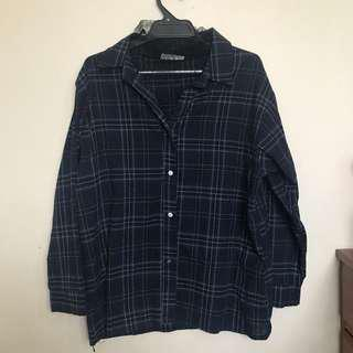 Navy flannel with mesh
