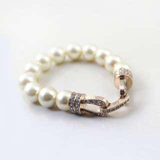 Ivy's Shop 艾薇小館 歐美系列 飾品 珍珠 閃鑽 彈力 手鍊 手環 手鐲